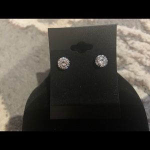 Jewelry - Round Diamond Accent Earrings